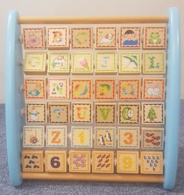 Wooden Alphabet & Numbers Frame